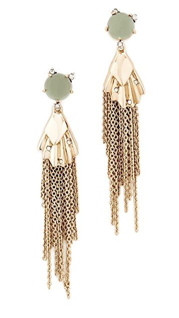 Alexis Bittar Dangling Tassel Earrings