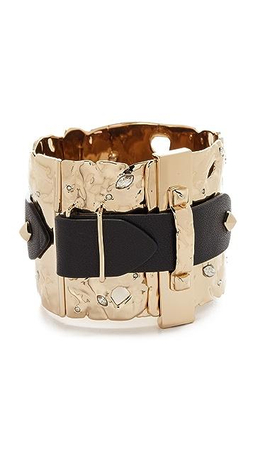 Alexis Bittar Crystal Buckle Cuff Bracelet