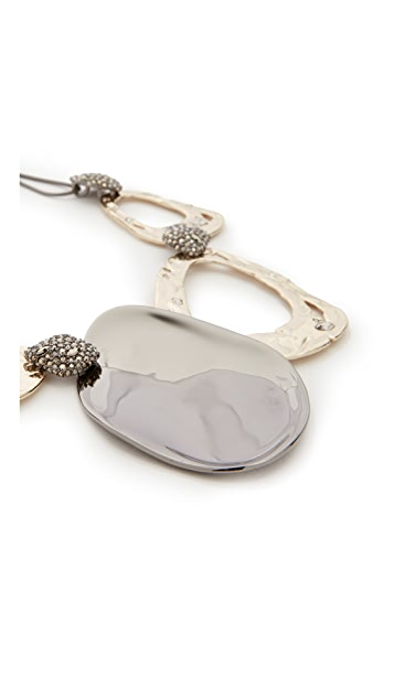 Alexis Bittar Crystal Accent Bib Necklace