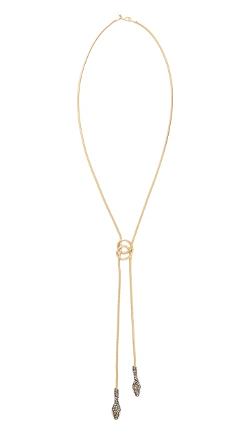 Alexis Bittar Lariat Knot Necklace