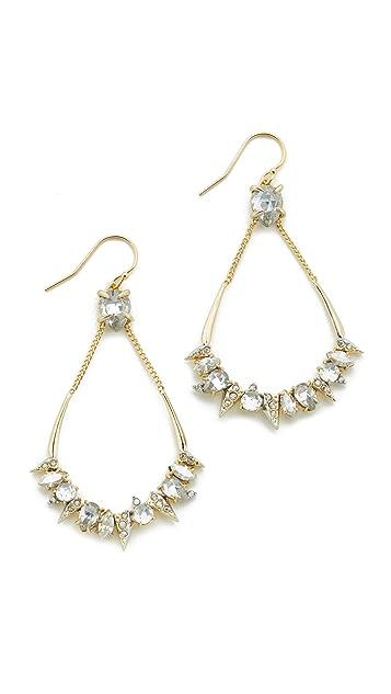 Alexis Bittar Crystal Mosaic Teardrop Earrings