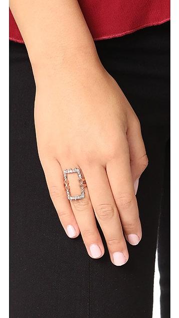 Alexis Bittar Crystal Encrusted Link Ring