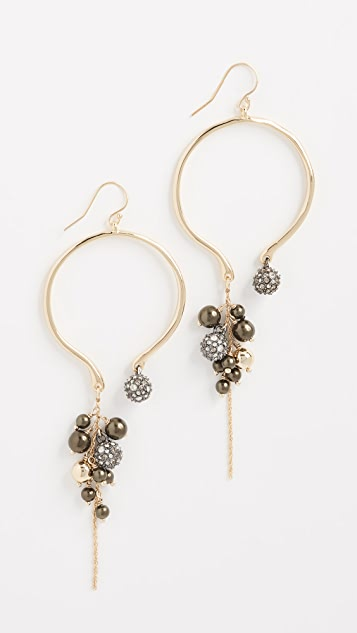 Alexis Bittar Bead Cluster Arc Earrings