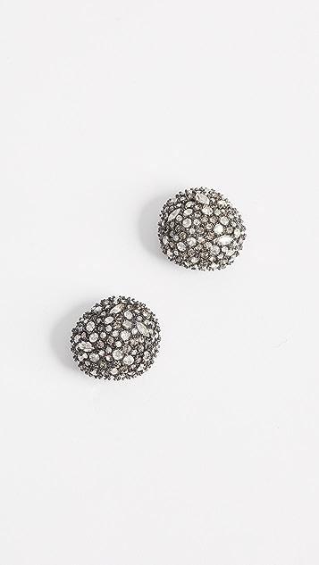 Alexis Bittar Crystal Encrusted Button Earrings