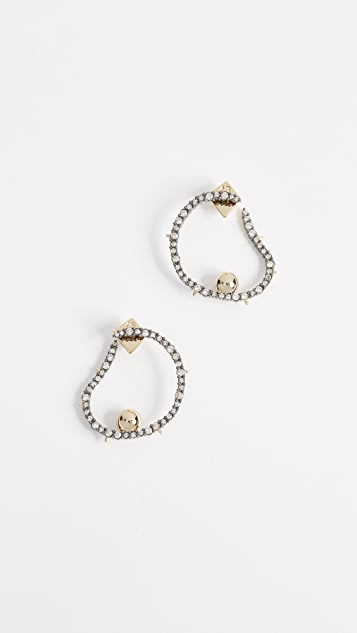 Alexis Bittar Wavey Front Hoop Earrings
