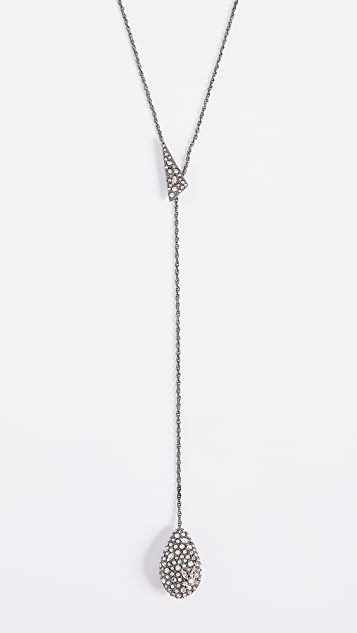 Alexis Bittar Teardrop Lariat Necklace