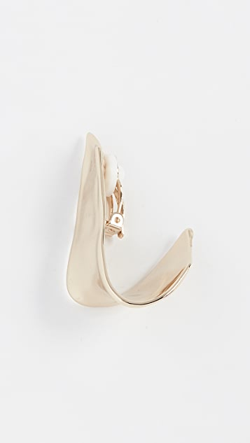 Alexis Bittar Flipped Watery Metal Clip On Earrings