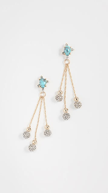 Alexis Bittar Crystal Ball Drop Earrings