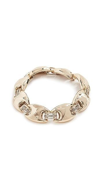 Alexis Bittar Metal Bank Soft Link Necklace