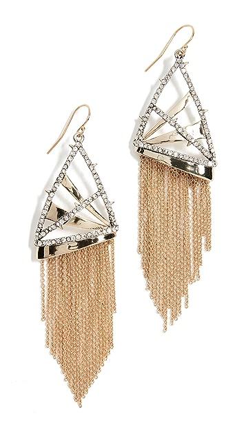 Alexis Bittar Chain Fringe Wire Earrings