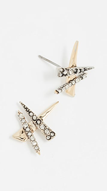 Alexis Bittar Crisscross Shard Earrings