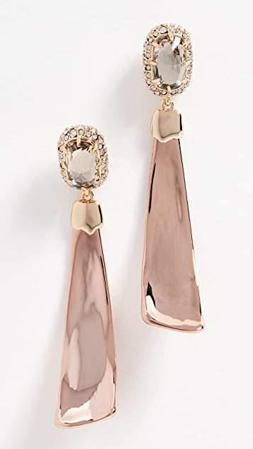 Alexis Bittar Dangling Scooped Crescent Post Earrings - Gold/Rose Gold