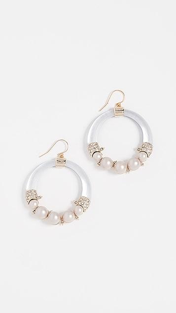 Alexis Bittar Freshwater Cultured Pearl Hoop Wire Earrings