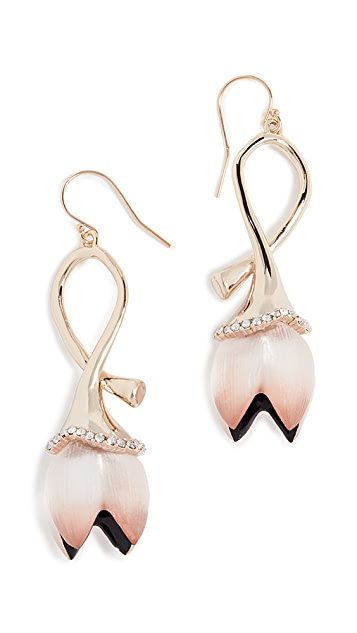 Alexis Bittar Lucite Abstract Tulip Wire Earrings