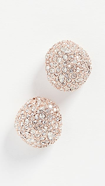Alexis Bittar Crystal Encrusted Button Stud Earrings