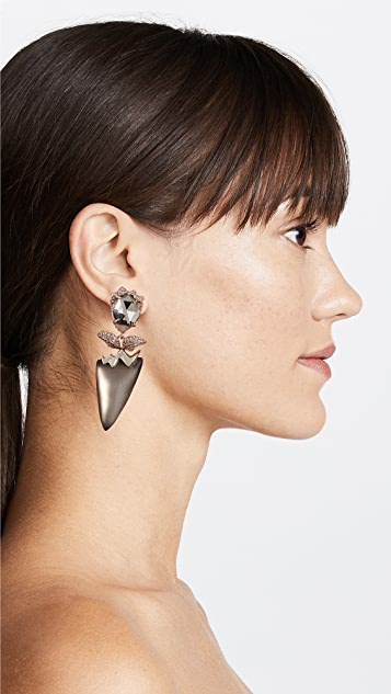 Alexis Bittar Abstract Flower Clip on Earrings