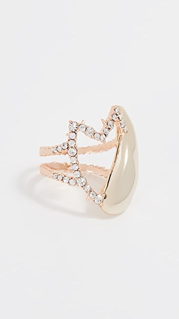 Alexis Bittar Abstract Tulip Cocktail Ring