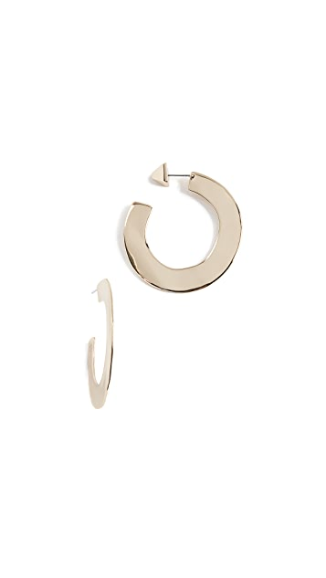 Alexis Bittar Liquid Metal Orbital Hoop Earrings