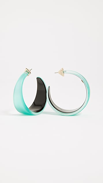 Alexis Bittar Graduated Hoop Earrings