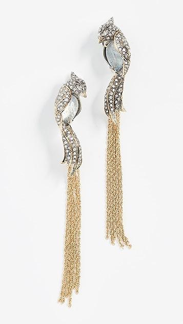 Alexis Bittar Love Bird Tassel Clip Earrings