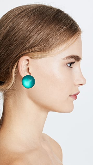 Alexis Bittar Medium Dome Clip On Earrings