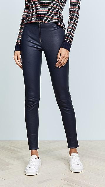 Alice Olivia Zip Front Leather Leggings