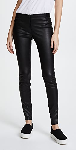 alice + olivia - Zip Front Leather Leggings
