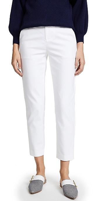 alice + olivia Stacey Slim Pants - White