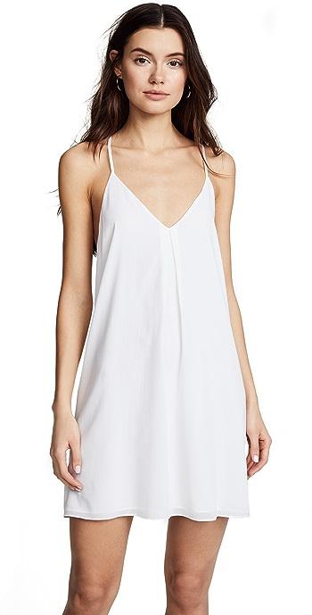 alice + olivia Fierra Y Back Tank Dress - White