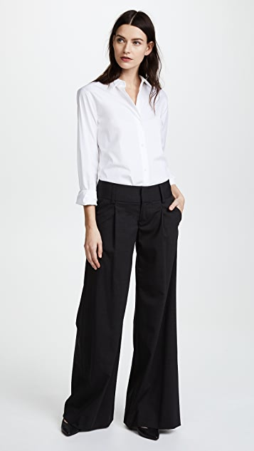 alice + olivia Eric Front Pleat Wide Leg Pants