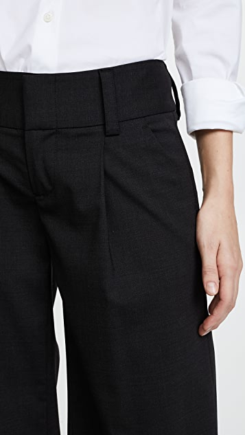 alice + olivia Eric Front Pleat Wide Leg Pants