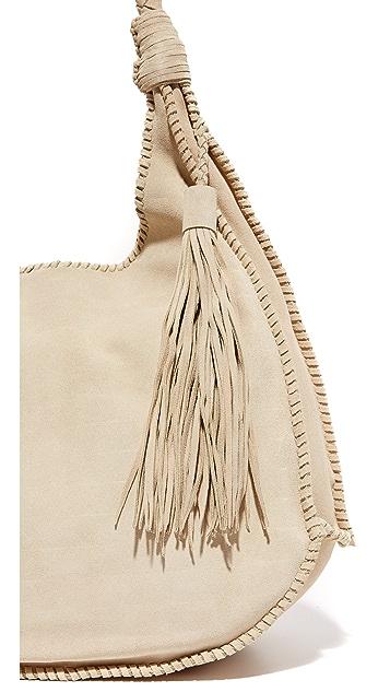 alice + olivia Andrew Suede Hobo Bag