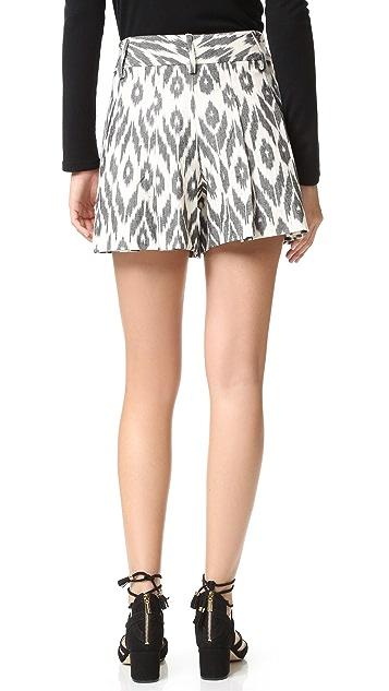 alice + olivia Scarlet High Waisted Flutter Shorts