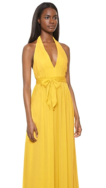 alice + olivia Kassidy Halter Dress