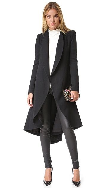 alice + olivia Karley Flare Back Wrap Coat