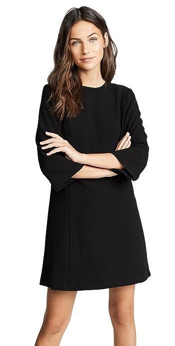 alice + olivia Gem 3/4 Sleeve Shift Dress - Black