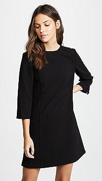 Gem 3/4 Sleeve Shift Dress