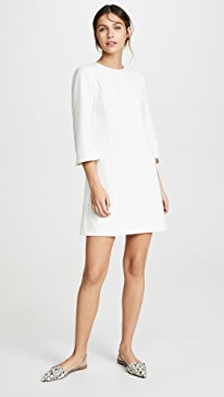 Gem 3/4 Sleeve Shift Dress