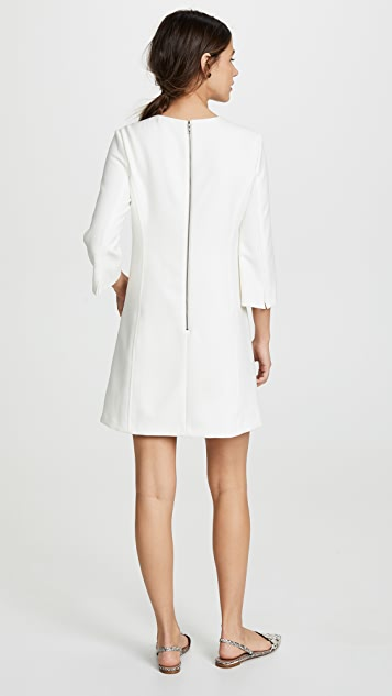 alice + olivia Gem 3/4 Sleeve Shift Dress