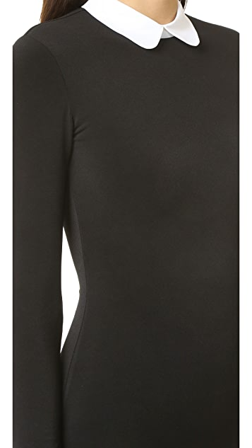 alice + olivia Sascha Collared Bodysuit