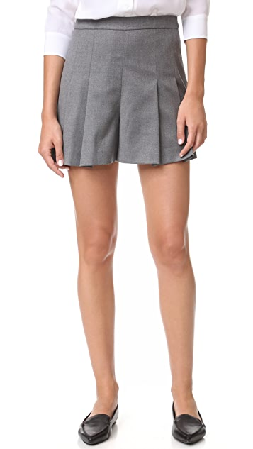 alice + olivia Winslet Pleat Shorts
