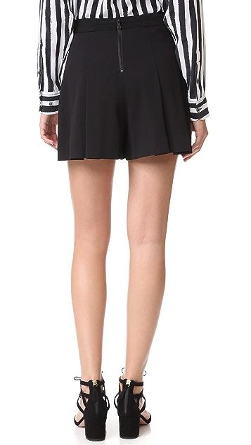 alice + olivia Winslet Pleated Shorts