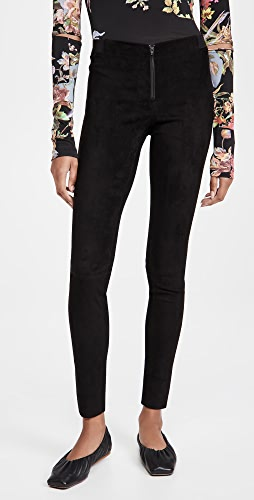 alice + olivia - Front Zip Suede Leggings