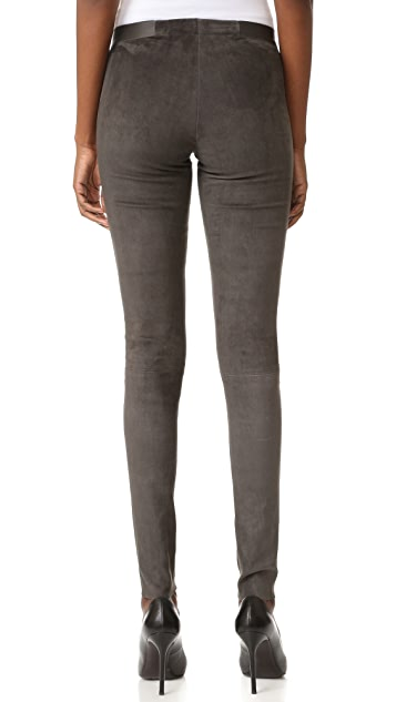 alice + olivia Front Zip Suede Leggings