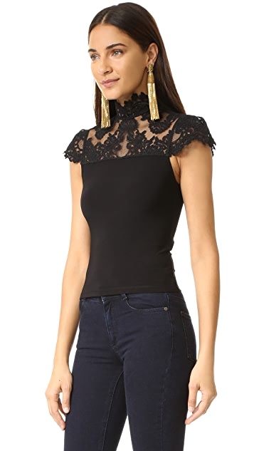 alice + olivia Dandi Lace Blouse