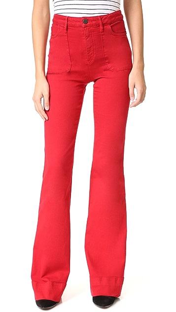 alice + olivia Juno High Waisted Wide Leg Jeans