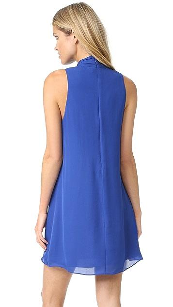 alice + olivia Cassidy Tie Neck Flare Dress