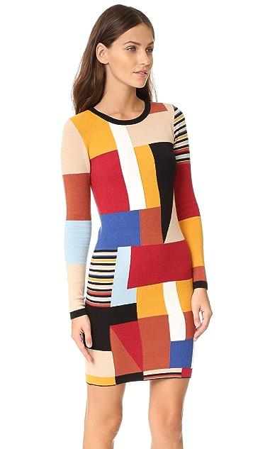 alice + olivia Hayden Patchwork Dress