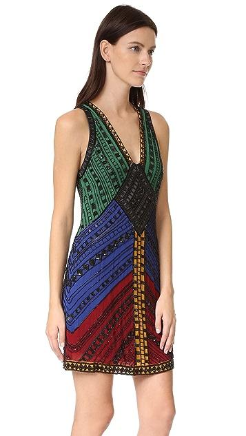 alice + olivia Nadia V Neck Dress