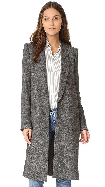 alice + olivia Kylie Long Shawl Collar Jacket
